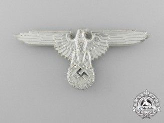 A Mint Waffen-SS Officer's Visor Cap Eagle by Ferdinand Wagner