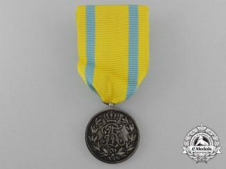 A Saxon Friedrich August Medal; Silver Grade