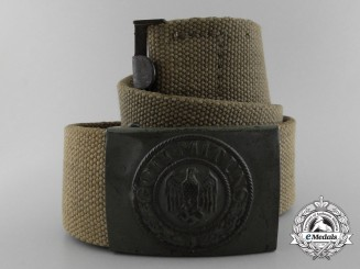 A Wehrmacht Deutsches Afrikakorps Belt and Buckle by Julius Kremp