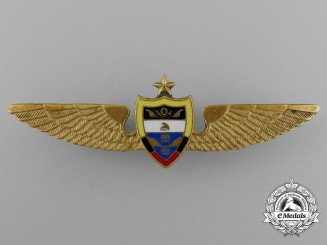 A Colombian Air Force Senior Pilot Badge