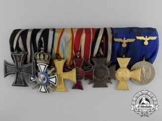 A German First & Second War Army Officer's Medal Bar