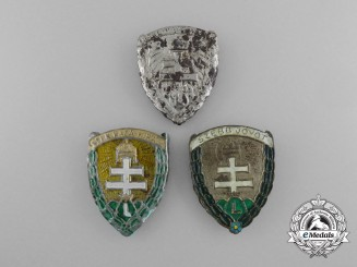 Three Second War Period Hungarian Levente Badges