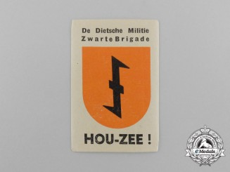 A Dutch Netherlandish Militia Black Brigade Label