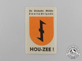 A Dutch Netherlandish Militia Black Brigade Label