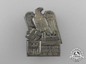 A 1936 Duisburg District Council Day Badge