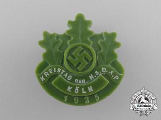 A 1935 NSDAP Cologne District Council Day Badge by Pollopas