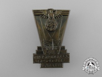 A 1933 NSDAP Aue District Diet Badge by Karl Wurster