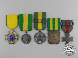 Five Brazilian Medals & Awards