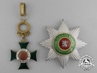 A Bulgarian Order of St. Alexander; First Class Set
