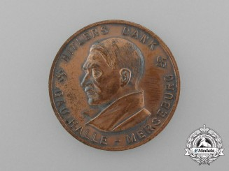"""A 1933/34 Winter Relief of the German People """"The Führer's Thanks"""" Donation Coin"""