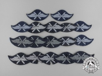 A Lot of Seventeen Luftwaffe Flight Personnel Trade Patches