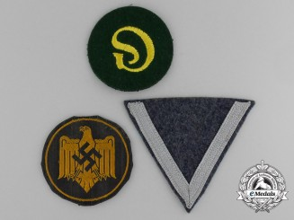A Lot of Three Third Reich Period Cloth Insignia