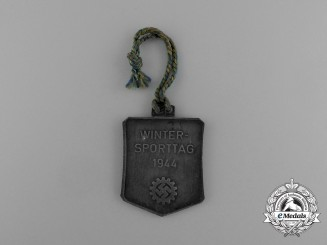 """A 1944 Salzburg/Austria KDF """"Day of Wintersport"""" Badge"""