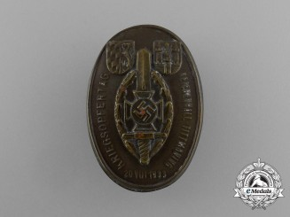 A 1933 NSKOV Reichenhall-Tittmoning War Veteran's Day Badge