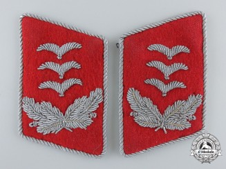 A Set of Luftwaffe Anti-Aircraft (Flak) Hauptmann Collar Tabs