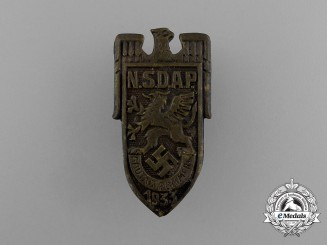 A 1933 NSDAP Pommern District Council Day Badge