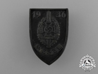 A 1936 NSKOV Wesel Meeting Badge