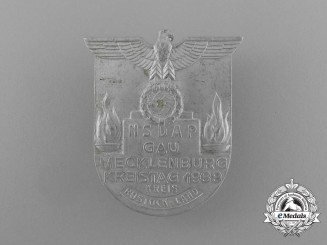 A 1938 NSDAP Mecklenburg Regional District Council Day Badge by Christian Lauer