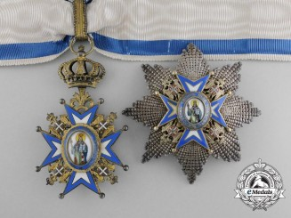 A Serbian Order of St.Sava; Second Class Commander with Case