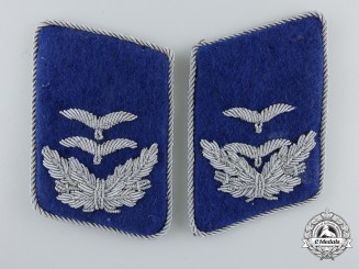 A Set of Luftwaffe Medical Unit Oberleutnant's Collar Tabs