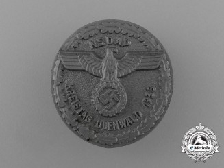 A 1938 NSDAP Odenwand District Council Day Badge by Richard Sieper & Söhne