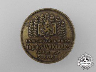 """A 1940 NSRL District Oberdonau """"Day of the Forrest Run"""" Badge"""