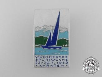 A Fine Quality 1939 Kärnten Wörthersee Sports Week Badge