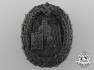 A 1934 Saxony Province Week Celebration Badge by Karl Wurster
