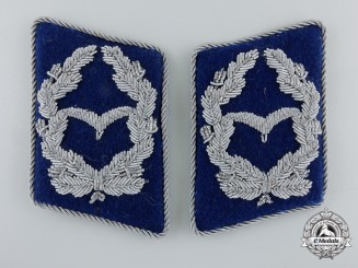 A Set of Luftwaffe Medical Unit Major's Collar Tabs