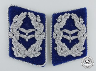 A Set of  Luftwaffe Medical Oberstleutnant's Collar Tabs