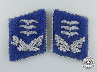 A Set of  Luftwaffe Medical Captain's Collar Tabs