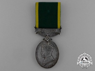An Efficiency Medal with Canada Scroll to the 3rd Canadian Armoured Reconnaissance Regiment