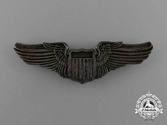 A USAAF 1930 Issue Pilot Sterling Silver Wing