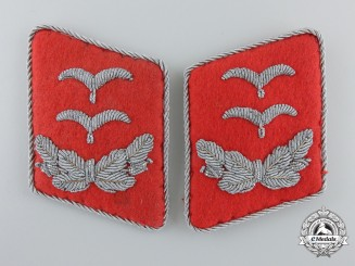 A Set of  Luftwaffe Flak/Anti-Aircraft Artillery Unit Oberleutnant's Collar Tabs