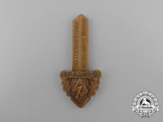 A 1939 SA-Group Saxony Championships Badge by E.O. Friedrich