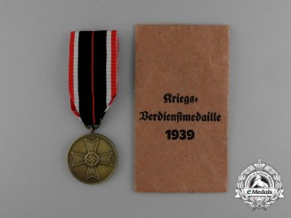 A War Merit Medal in its Original Paper Packet of Issue by Robert Hauschild
