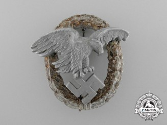 A Scarce & Early Luftwaffe Observer' Badge with Aluminum Eagle