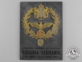 A Rare 1941 Romanian-German Athletic Award