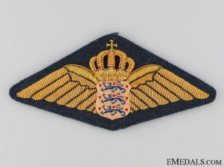 Danish Air Force Pilot's Wings Badge