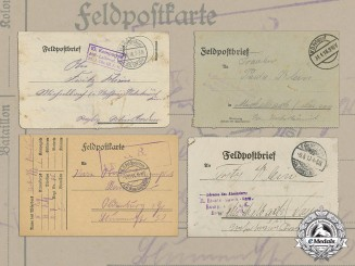 Five First War German FeldPost Letters