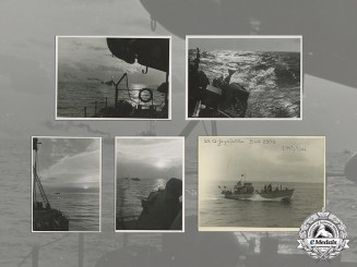 Eight Period Photographs from 23rd U-Jagdflottille; Kriegsmarine Submarine Pursuit Unit