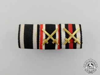 A First and Second War German War Merit Medal Ribbon Bar