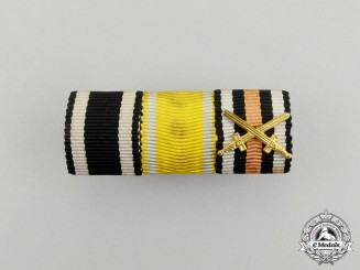 A First War German Saxon Friedrich August Medal Ribbon Bar