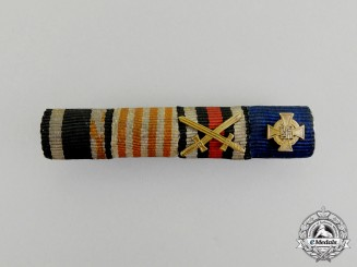 A First and Second War Bremen-Hansa War Cross Medal Ribbon Bar