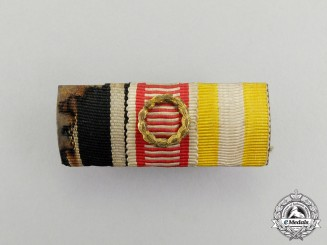 A First War Selesian Eagle Medal Ribbon Bar