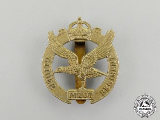 A Second War British Glider Pilot Regiment Cap Badge with King's Crown