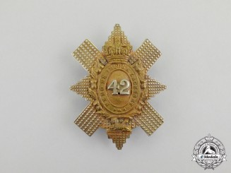 A Victorian 42nd (The Royal Highland) Regiment of Foot Sergeant's Glengarry Badge 1868-1901