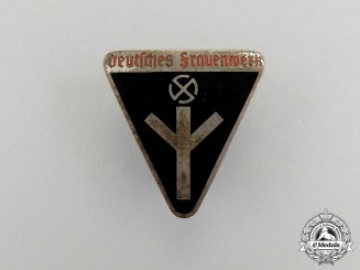 Germany. An NS Women's Organization Membership Badge by Karl Wurster