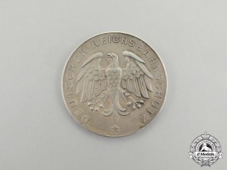 Germany. A 1929 10-Year Anniversary of Railway Protection in Württemberg Silver Medal