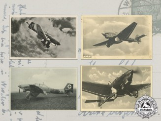 Four Luftwaffe Propaganda Postcards (Ju 87)